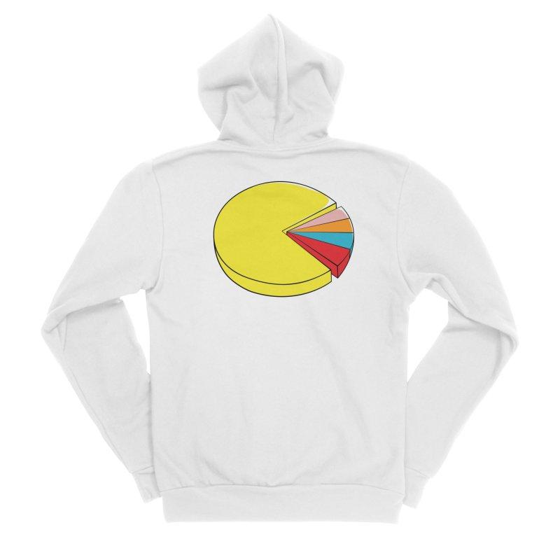 Pacman Pie Chart Women's Sponge Fleece Zip-Up Hoody by DavidBS