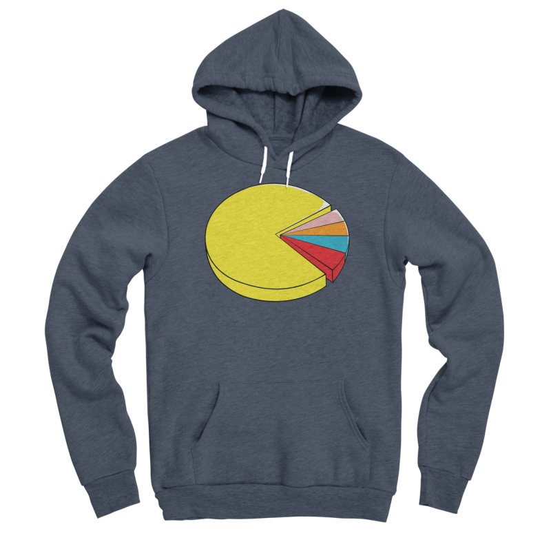 Pacman Pie Chart Women's Sponge Fleece Pullover Hoody by DavidBS