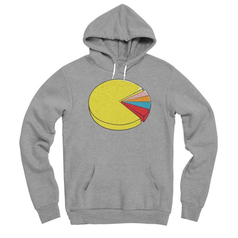 Pacman Pie Chart Men's Sponge Fleece Pullover Hoody by DavidBS