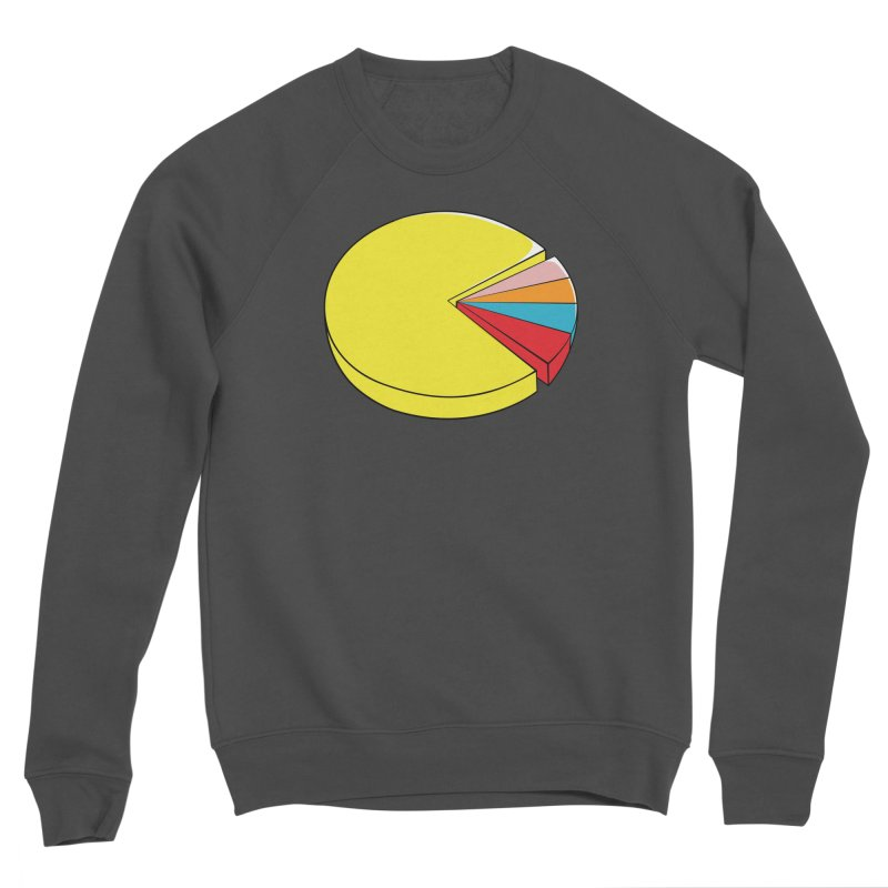 Pacman Pie Chart Men's Sponge Fleece Sweatshirt by DavidBS