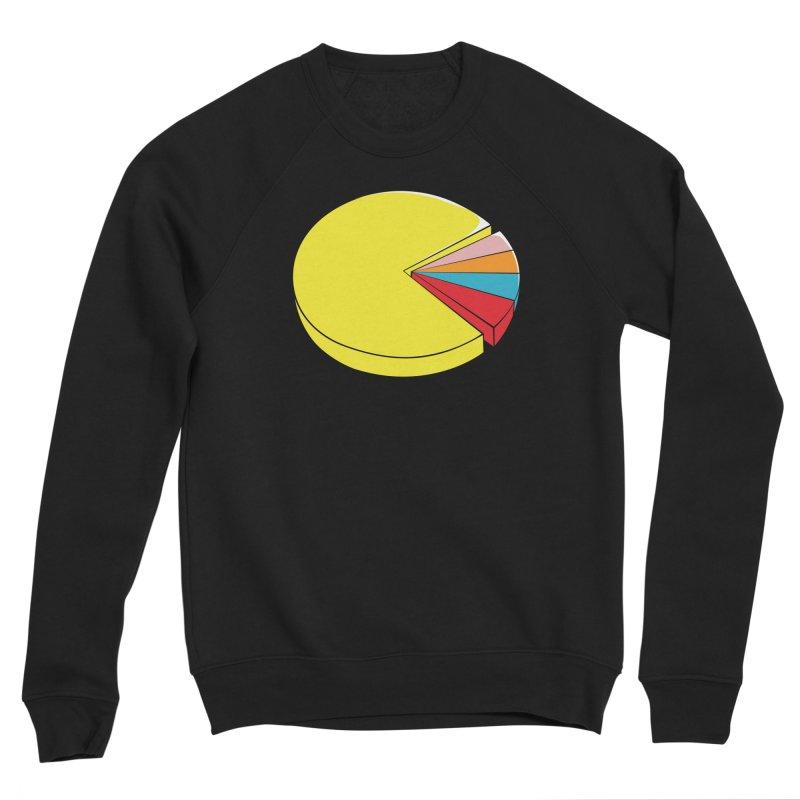 Pacman Pie Chart Men's Sponge Fleece Sweatshirt by DavidBS