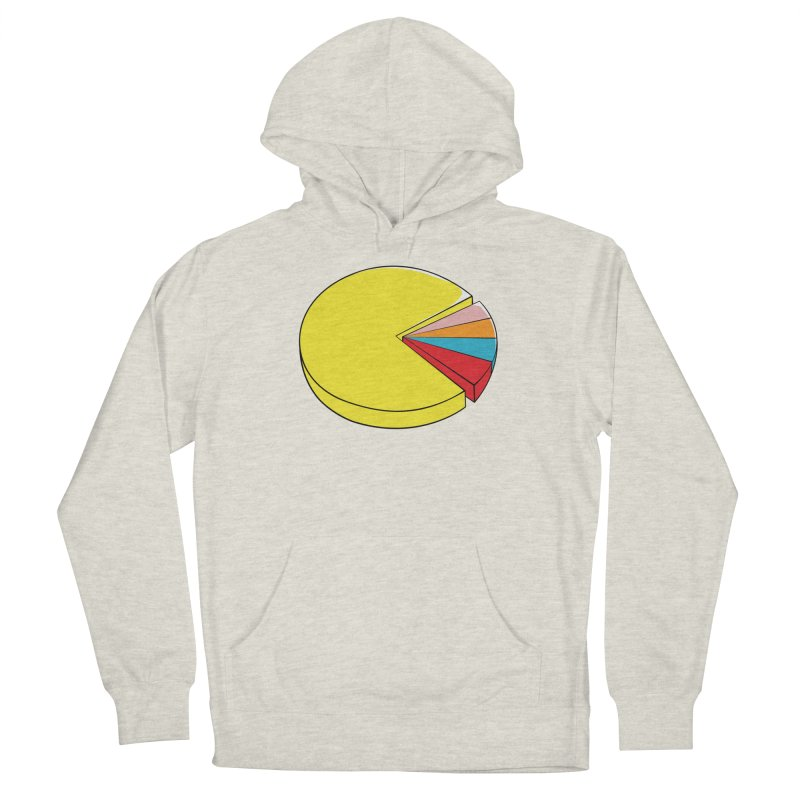 Pacman Pie Chart Men's French Terry Pullover Hoody by DavidBS