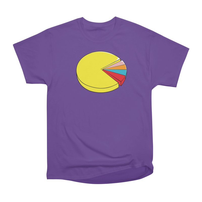 Pacman Pie Chart Women's Heavyweight Unisex T-Shirt by DavidBS