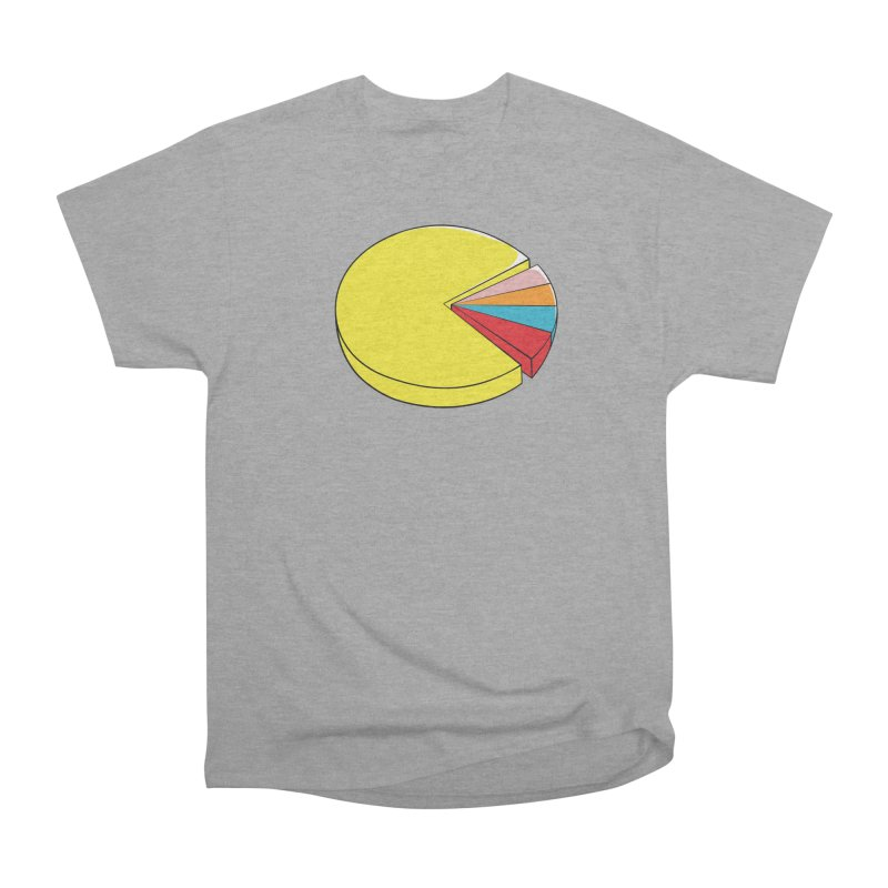 Pacman Pie Chart Men's Heavyweight T-Shirt by DavidBS