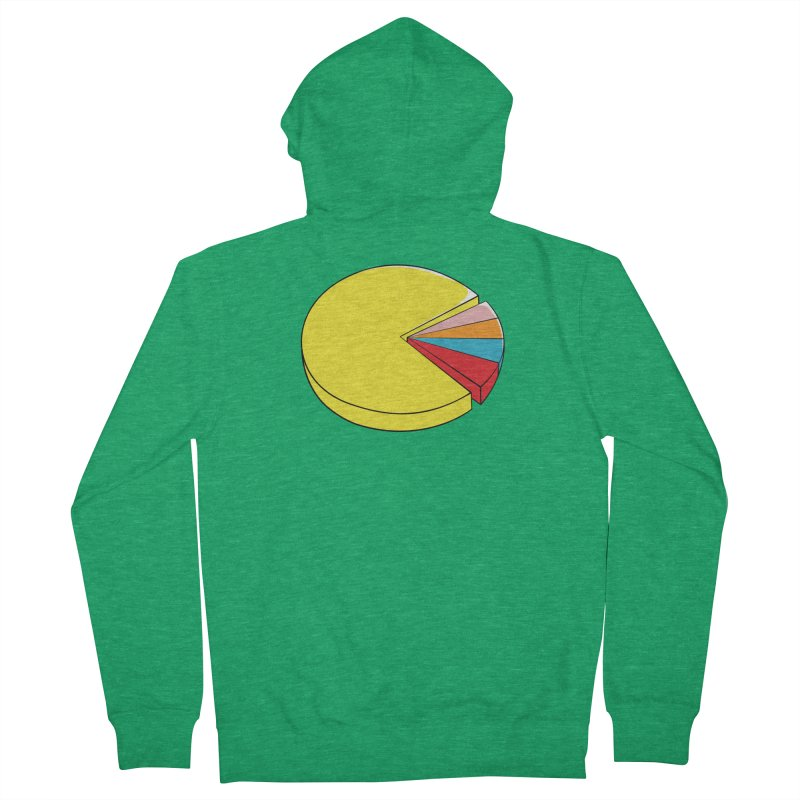 Pacman Pie Chart Women's French Terry Zip-Up Hoody by DavidBS