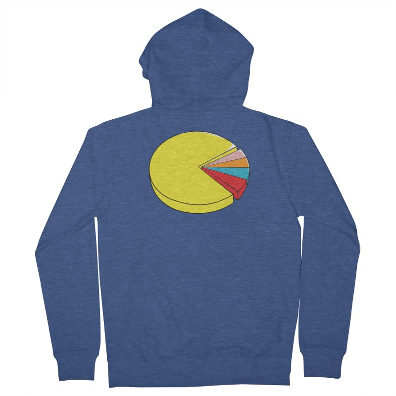 Pacman Pie Chart Men's Zip-Up Hoody by DavidBS