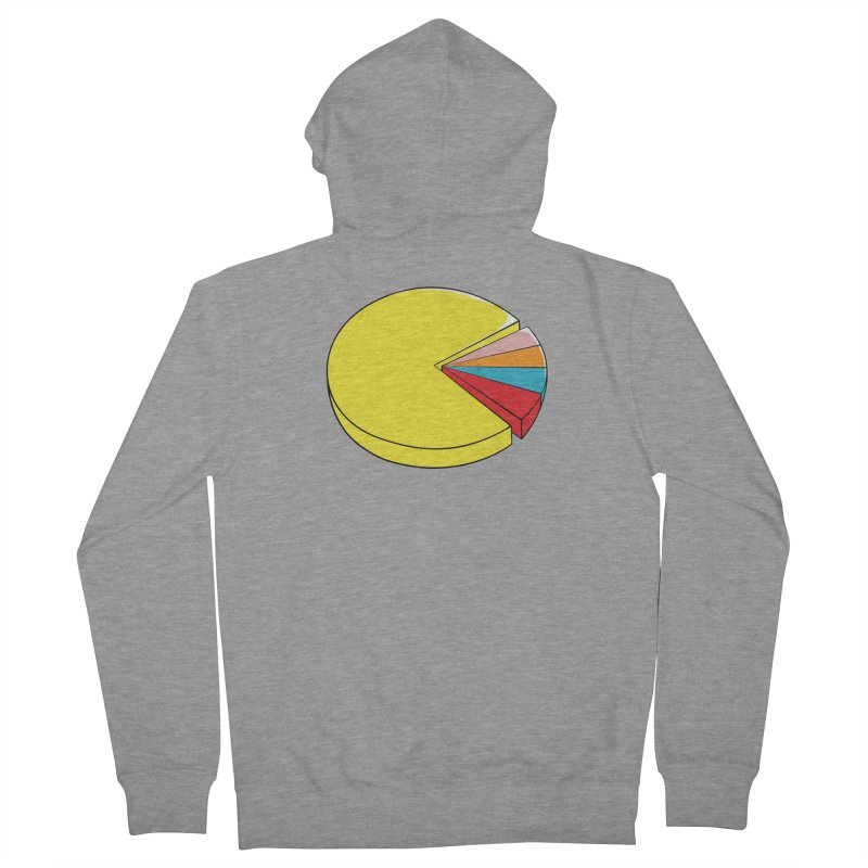 Pacman Pie Chart Men's French Terry Zip-Up Hoody by DavidBS