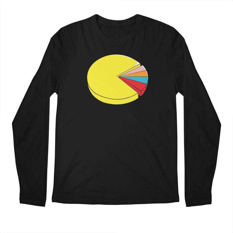 Pacman Pie Chart Men's Regular Longsleeve T-Shirt by DavidBS