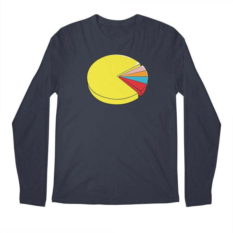 Pacman Pie Chart Men's Regular Longsleeve T-Shirt by DavidBS