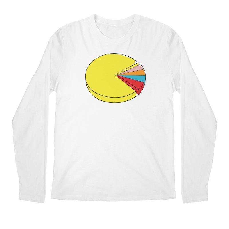 Pacman Pie Chart Men's Longsleeve T-Shirt by DavidBS