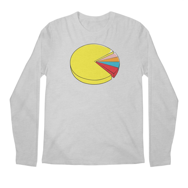 Pacman Pie Chart Men's Longsleeve T-Shirt by DavidBS