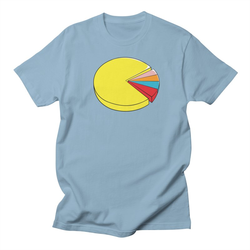 Pacman Pie Chart Women's Regular Unisex T-Shirt by DavidBS