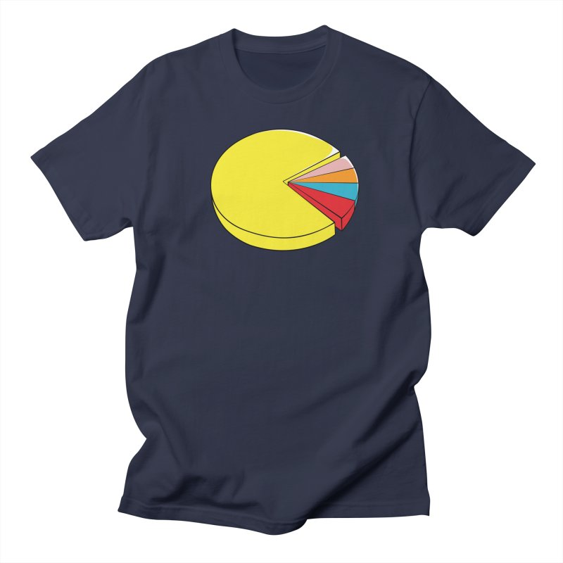 Pacman Pie Chart in Men's Regular T-Shirt Navy by DavidBS