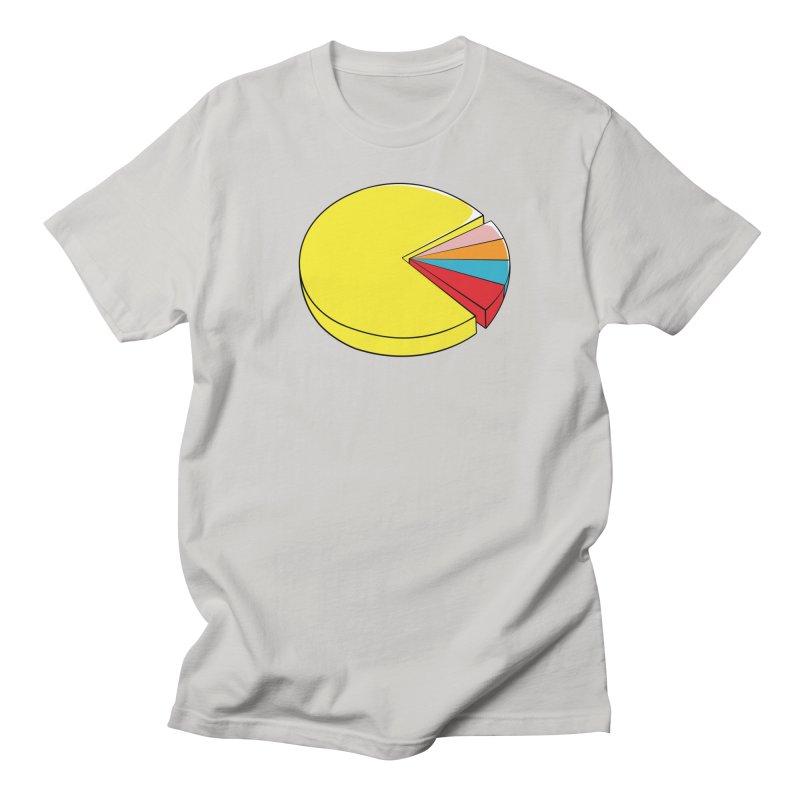 Pacman Pie Chart Men's Regular T-Shirt by DavidBS