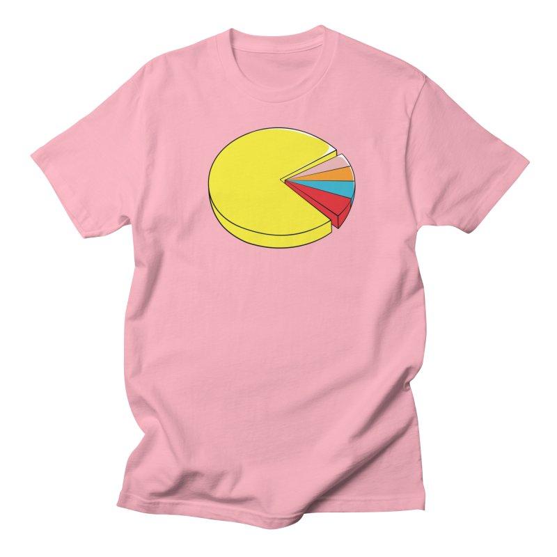 Pacman Pie Chart Women's Regular Unisex T-Shirt by DavidBS