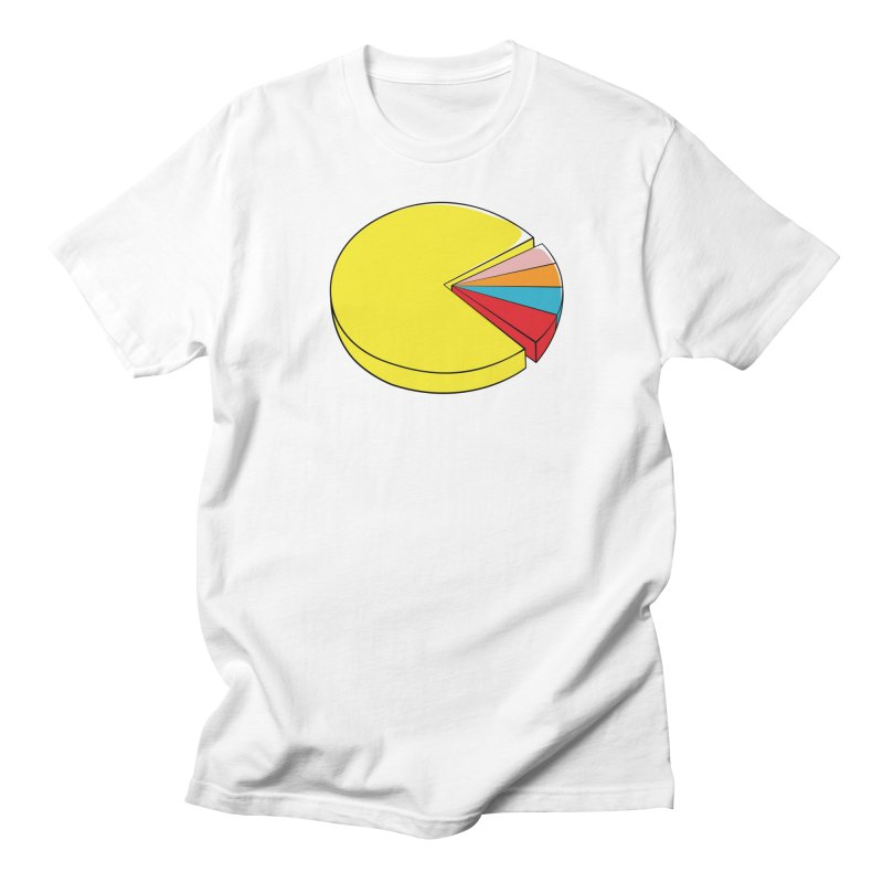 Pacman Pie Chart Women's Unisex T-Shirt by DavidBS
