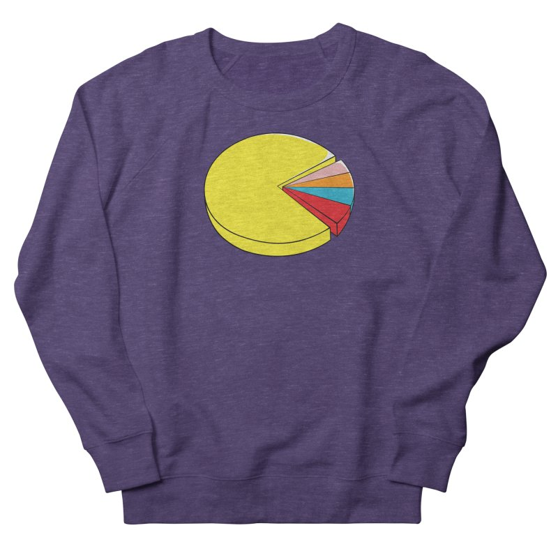 Pacman Pie Chart Women's French Terry Sweatshirt by DavidBS
