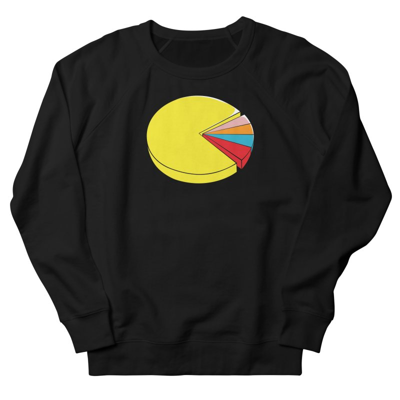 Pacman Pie Chart Men's French Terry Sweatshirt by DavidBS