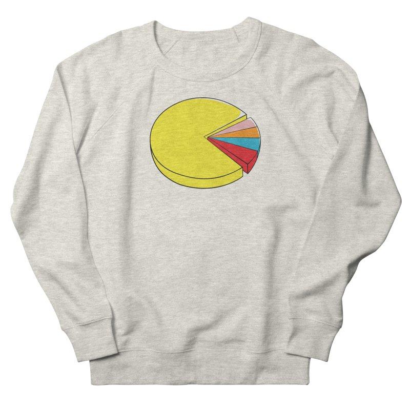 Pacman Pie Chart Men's French Terry Sweatshirt by DavidBS