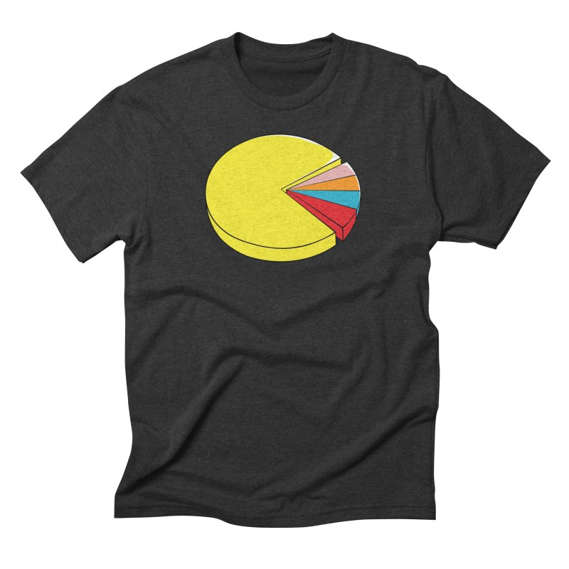 Pacman Pie Chart Men's Triblend T-shirt by DavidBS