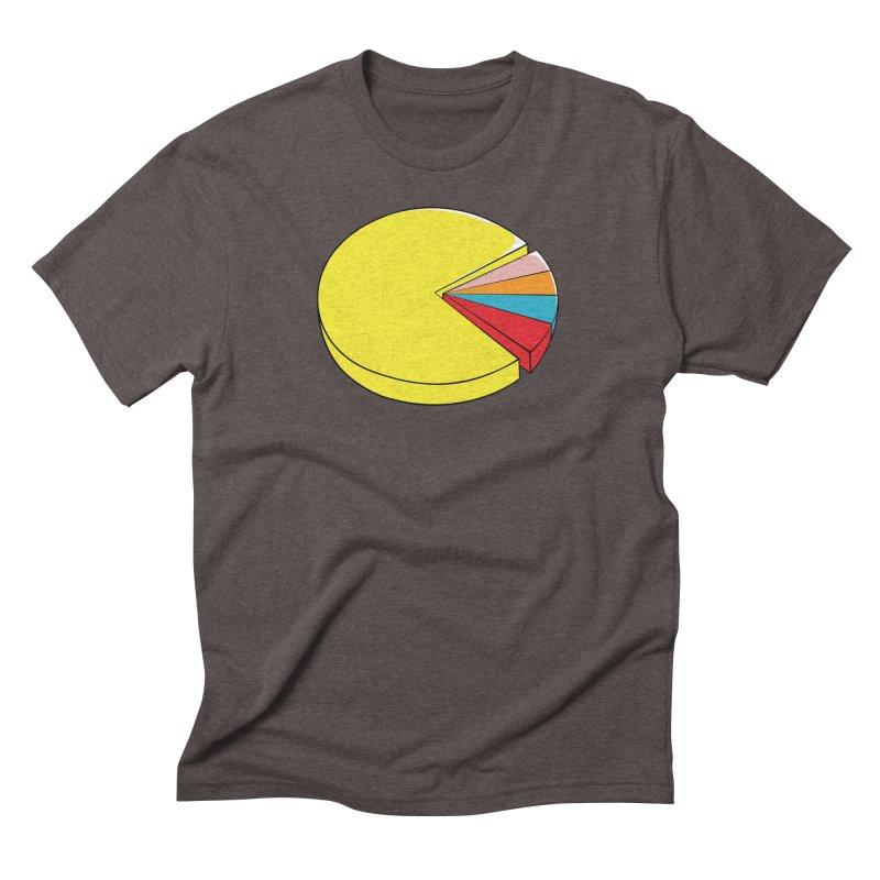 Pacman Pie Chart Men's Triblend T-Shirt by DavidBS