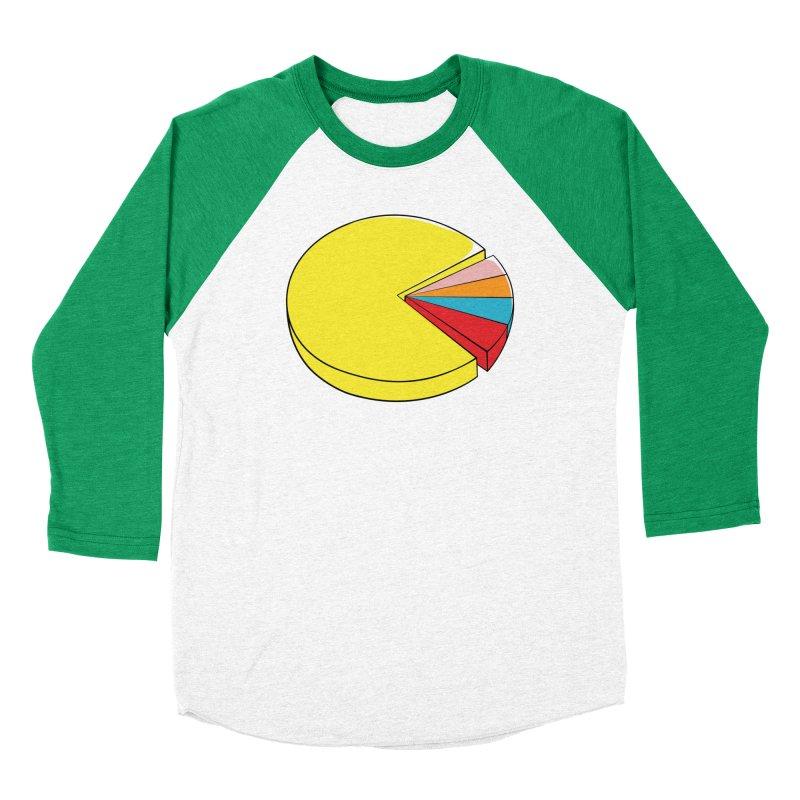Pacman Pie Chart Women's Baseball Triblend T-Shirt by DavidBS