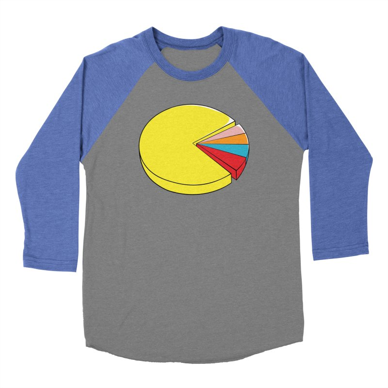 Pacman Pie Chart Women's Baseball Triblend T-Shirt by DavidBS