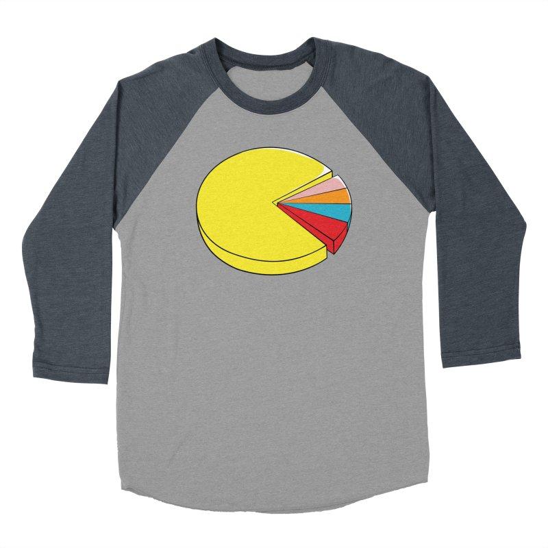Pacman Pie Chart Women's Baseball Triblend Longsleeve T-Shirt by DavidBS