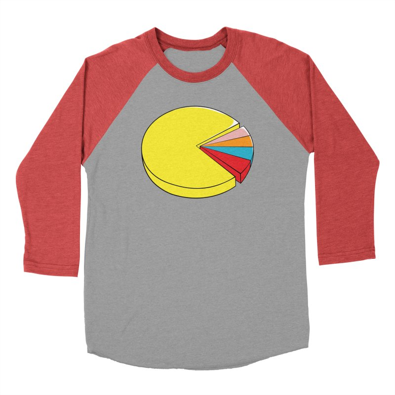 Pacman Pie Chart Men's Baseball Triblend Longsleeve T-Shirt by DavidBS