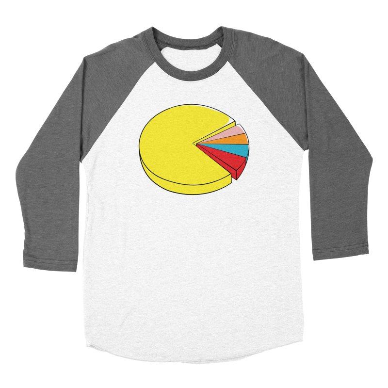 Pacman Pie Chart Men's Baseball Triblend Longsleeve T-Shirt by DavidBS