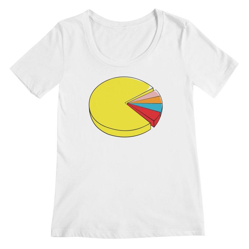 Pacman Pie Chart Women's Regular Scoop Neck by DavidBS