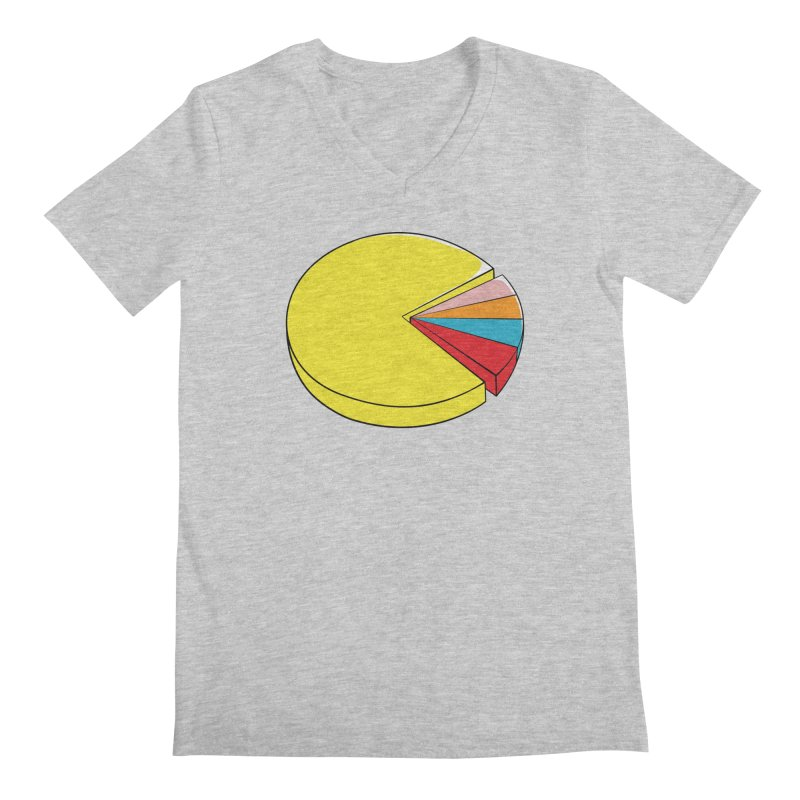 Pacman Pie Chart Men's Regular V-Neck by DavidBS