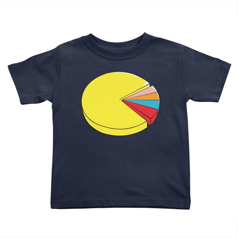 Pacman Pie Chart Kids Toddler T-Shirt by DavidBS