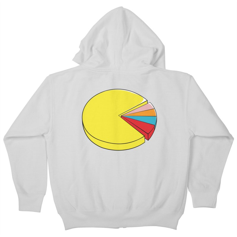 Pacman Pie Chart Kids Zip-Up Hoody by DavidBS
