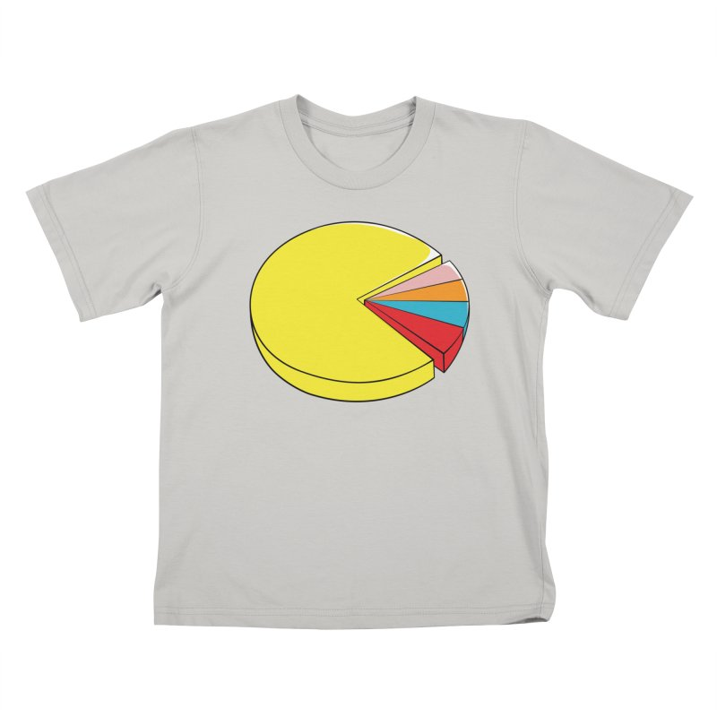 Pacman Pie Chart Kids T-Shirt by DavidBS