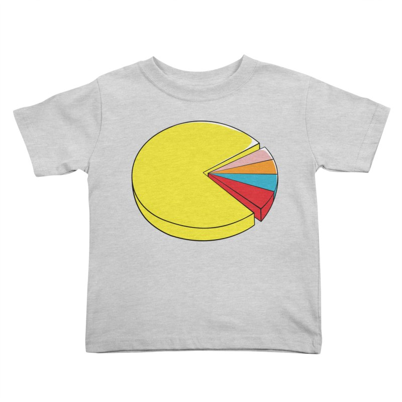 Pacman Pie Chart Kids Toddler T-Shirt by DavidBS