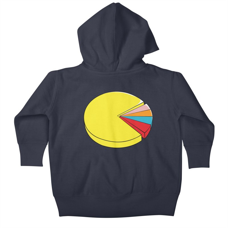 Pacman Pie Chart Kids Baby Zip-Up Hoody by DavidBS