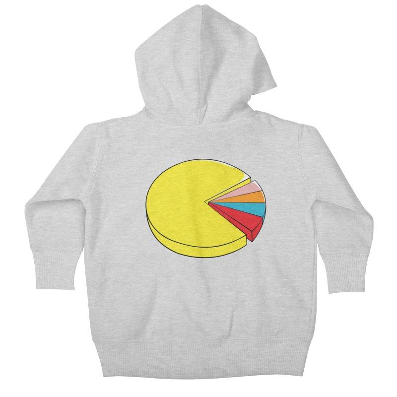 Pacman Pie Chart Kids Baby Zip-Up Hoody by DavidBS