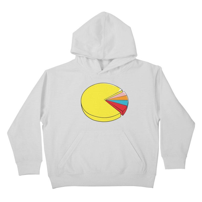 Pacman Pie Chart Kids Pullover Hoody by DavidBS