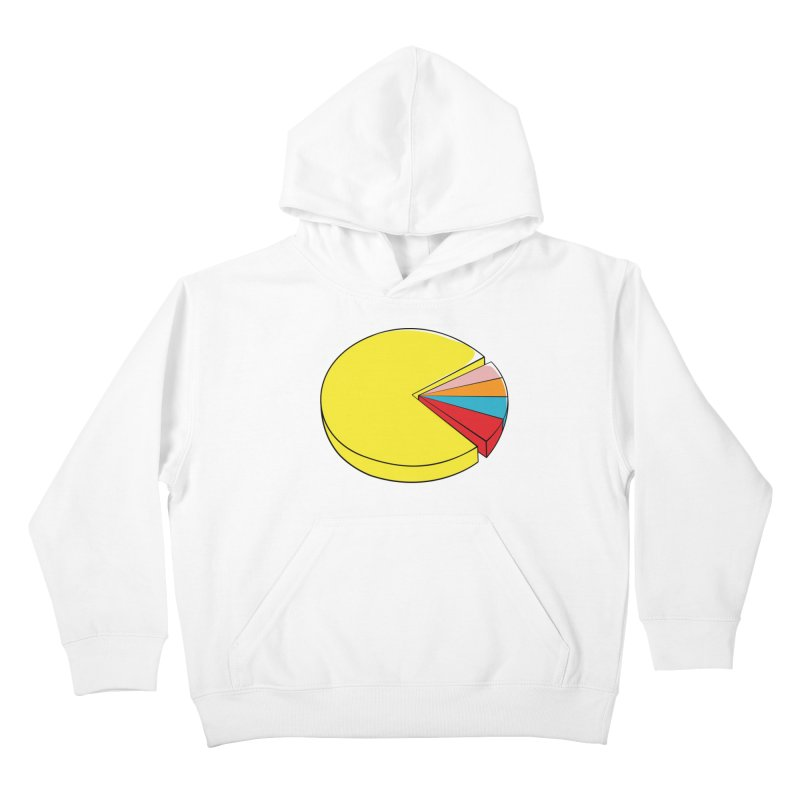 Pacman Pie Chart Kids Pullover Hoody by DavidBS