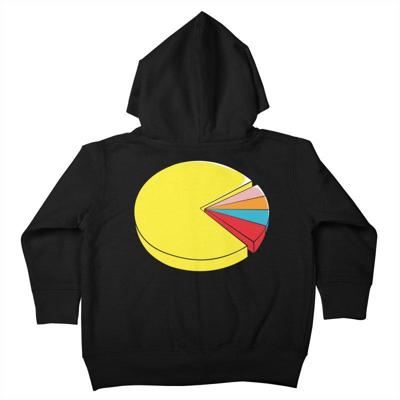 Pacman Pie Chart Kids Toddler Zip-Up Hoody by DavidBS