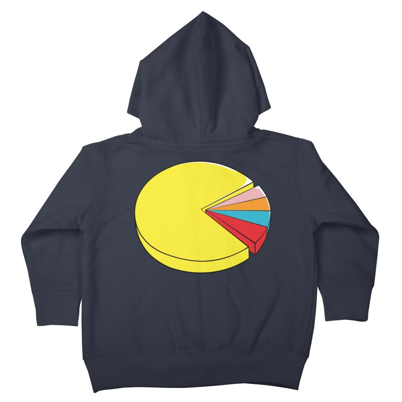 Pacman Pie Chart Kids Toddler Zip-Up Hoody by DavidBS