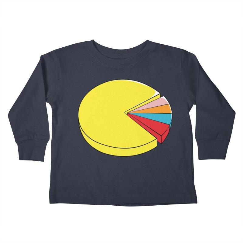 Pacman Pie Chart Kids Toddler Longsleeve T-Shirt by DavidBS