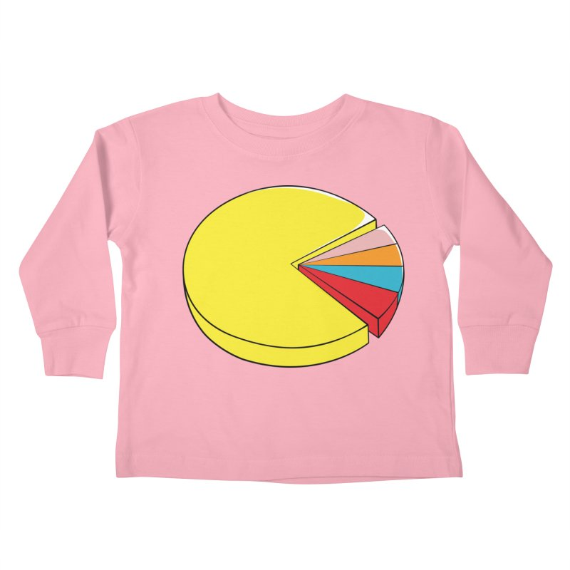 Pacman Pie Chart Kids Toddler Longsleeve T-Shirt by DavidBS