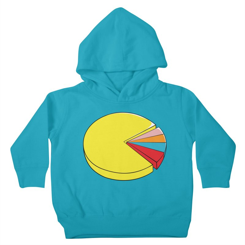 Pacman Pie Chart Kids Toddler Pullover Hoody by DavidBS