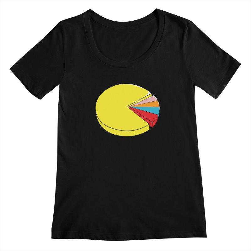 Pacman Pie Chart Women's Scoopneck by DavidBS
