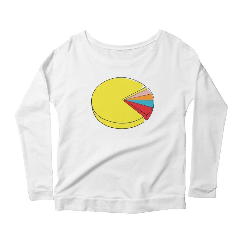 Pacman Pie Chart Women's Longsleeve Scoopneck  by DavidBS
