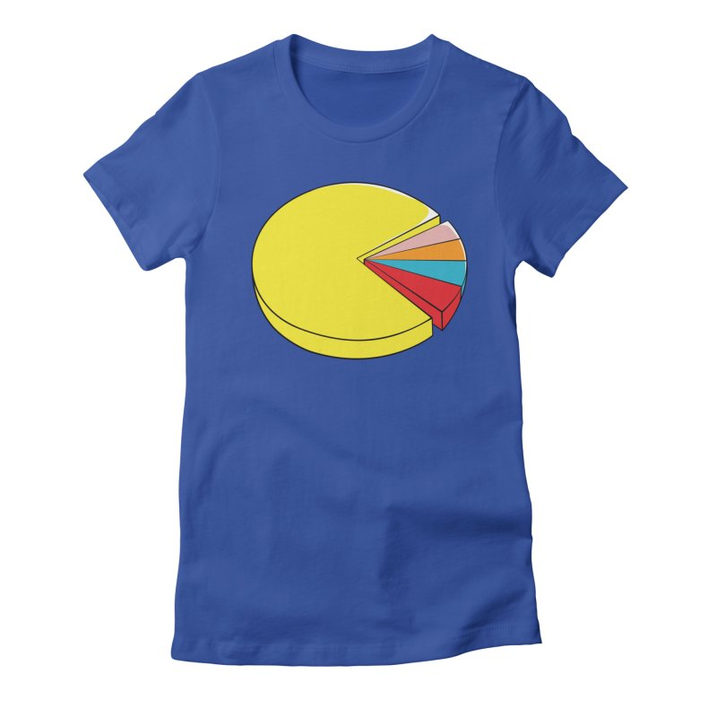 Pacman Pie Chart Women's Fitted T-Shirt by DavidBS