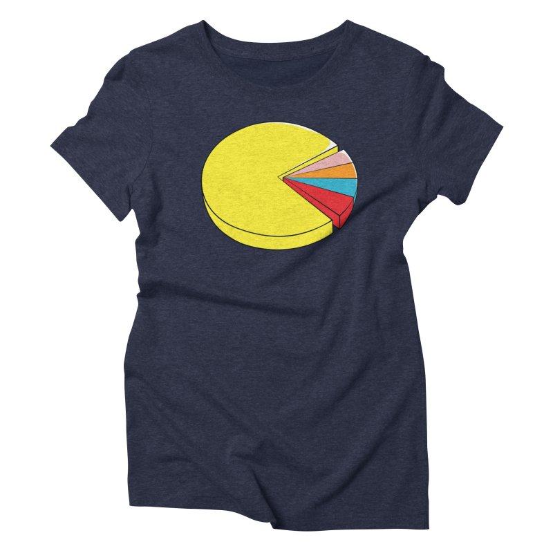 Pacman Pie Chart Women's Triblend T-Shirt by DavidBS