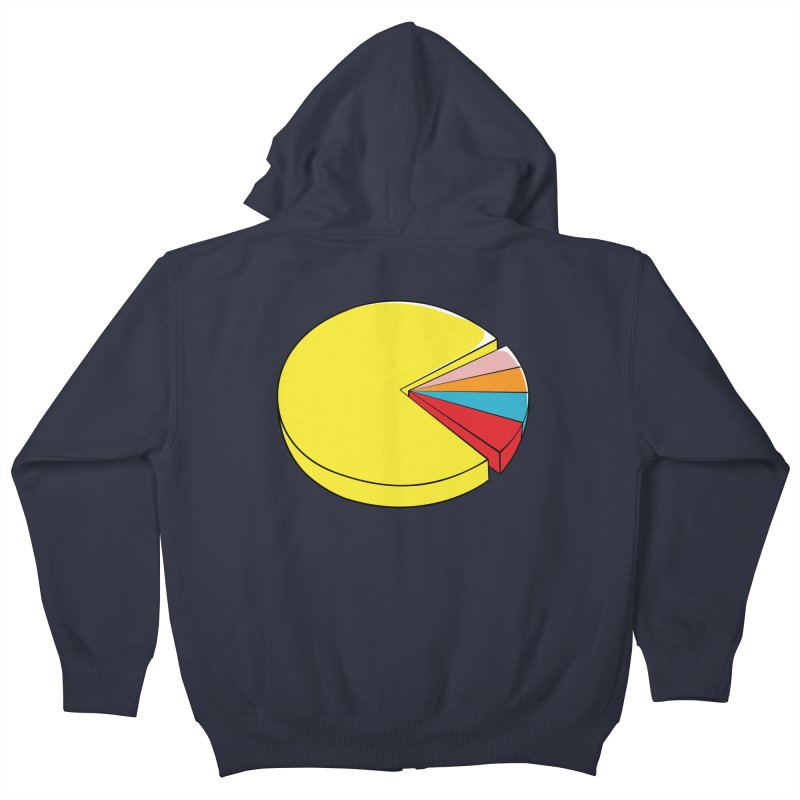 Pacman Pie Chart Kids Zip-Up Hoody by DavidBS